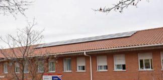 colegio hermanos garcia noblejas con placas solares en villaviciosa de odon