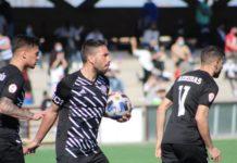 Rubén Ramos celebrando el gol del empate ante el Getafe B